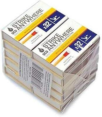 UCO - Juego de 10 Cajas de 32 cerillas por Caja, a Prueba de ...