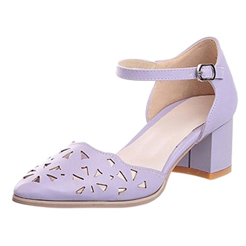 Coolcept Women Pointed Toe Court Shoes Purple GPmx0m