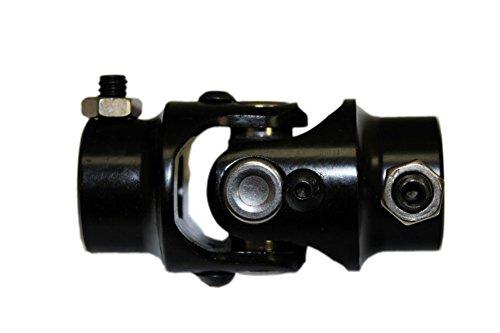 DEMOTOR Universal Steering U Joint 9/16 - 26 Spline to 3/4 DD Black Steel