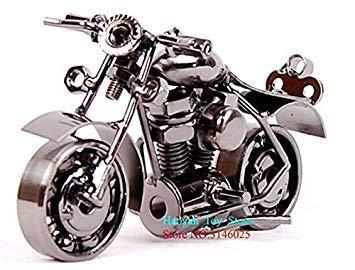 Kids Collectible Art Sculpture Handmade Metal Motorcycle Tractor Model Creative Office Desktop Accessories Decor Motorcycle Toys O