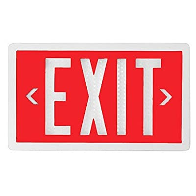 Red Self-Luminous Tritium Exit Sign with 10-Year Life