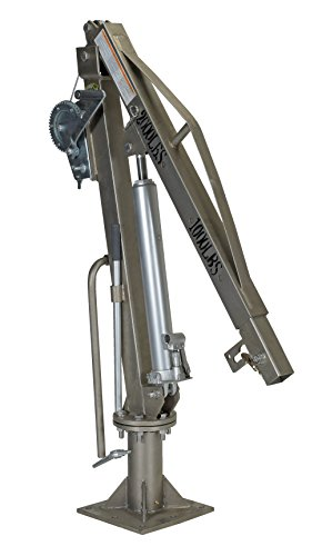 (Vestil WTJ-4-SS Winch Truck Jib Crane Extended Stainless Steel - 1000 lbs)
