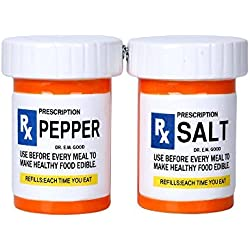 Pacific Giftware RX Pharmacy Presciption Bottles Ceramic Magnetic Salt and Pepper Shaker Set