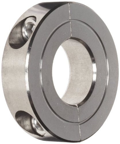 Climax Metals H2C-050-S Shaft Collar, Two Piece, Clamp Style, Stainless Steel, 1/2
