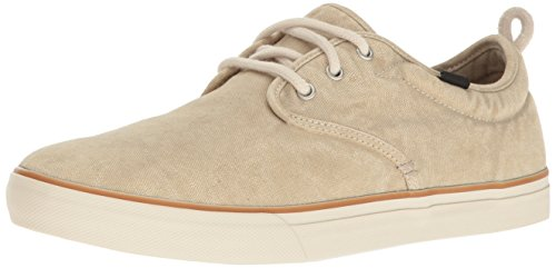Sneakers Canvas Simple (Sanuk Men's Guide Plus Washed Sneaker, Washed Natural, 10.5 M US)