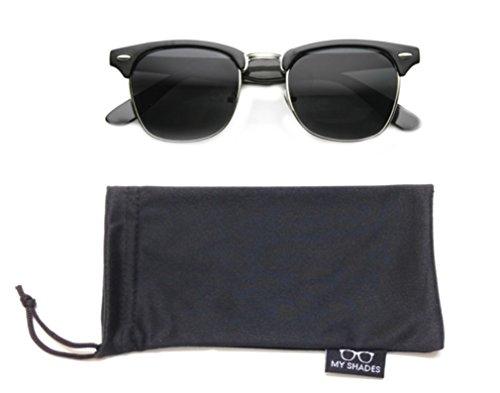 MLC Eyewear Half Frame Horn Rimmed Retro Vintage Fashion Sunglasses