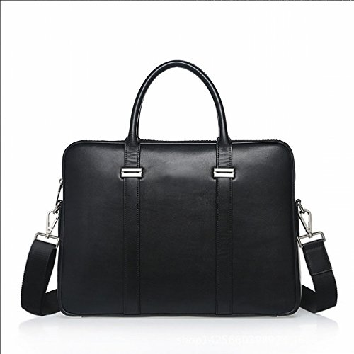 Htb Horizontal Man Bag Business Business Man Of Great Capacity Bag Messenger Bag Fashion Casual Backpack, Black Blue