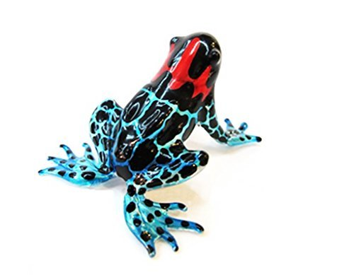 1 X Lampwork COLLECTIBLE MINIATURE HAND BLOWN Art GLASS New Magic Frog FIGURINE