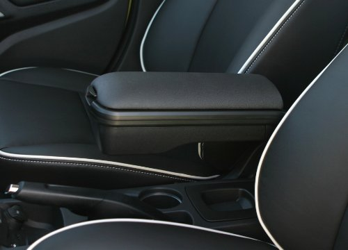 Boomerang Center Console Armrest for 2011-2013 Ford Fiesta - Charcoal Black