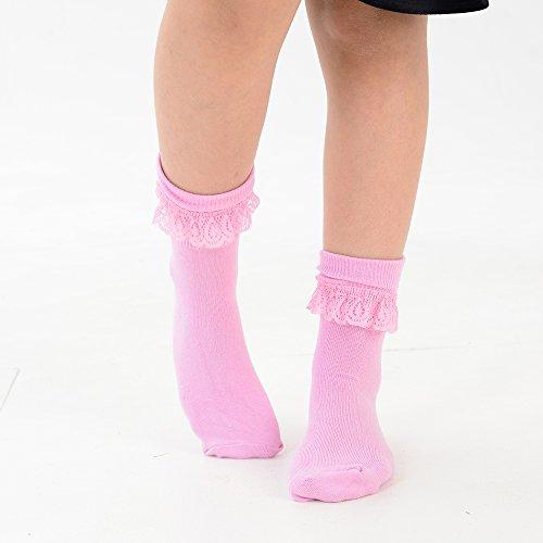 Filles Rose Couleur nbsp;paires Disponible En Tailles Volants Socquettes Couleurs Et Gamme 10 De Dentelle qOEgaxgTw