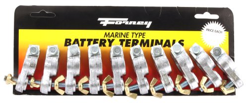 Battery Terminal Clamps (Forney 54787 Terminals, Marine Post Type, 10/Card)