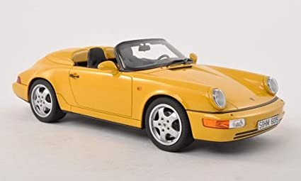 Porsche 911 (964) Speedster, yellow, 1993, Model Car, Ready-