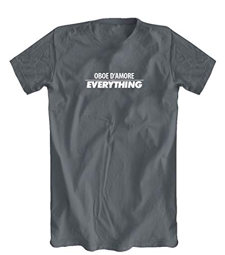 Oboe D'Amore Over Everything T-Shirt, Grey, Small
