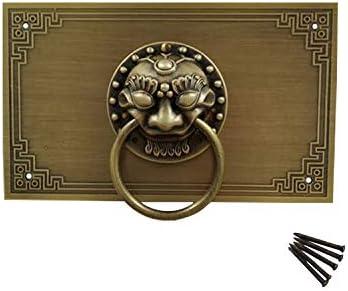 decoraci/ón de cabeza de le/ón cajones Juego de tiradores de lat/ón antiguo estilo chino para armarios de cocina mango cl/ásico de cobre puro muebles cl/ásicos Tiazza