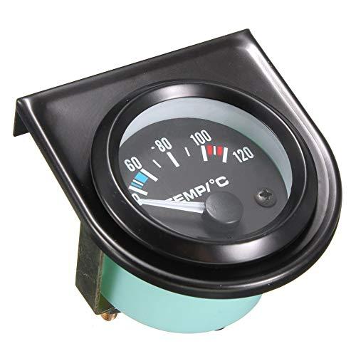 252MM Voiture Auto 12V Pointeur De Voiture Universel Temp/érature De Leau Celsius Jauge Jauge Pointeur Avec Blanc LED R/étro-/Éclairage