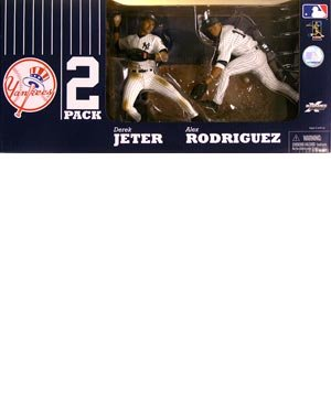 McFarlane Toys MLB Sports Picks Exclusive New York Yankees Defensive Action Figure 2-Pack (Derek Jeter, Alex Rodriguez)