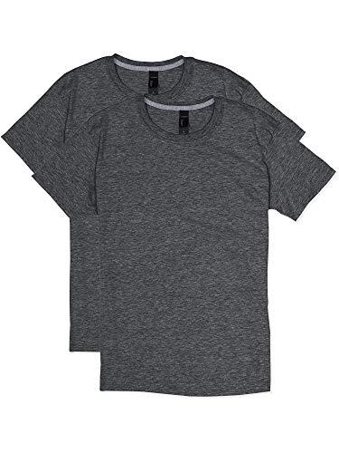 - Hanes Men's 2 Pack X-Temp Performance T-Shirt, Charcoal, MEDIUM