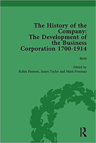 Book The History of the Company, Part I Vol 1: Development of the Business Corporation, 1700-1914