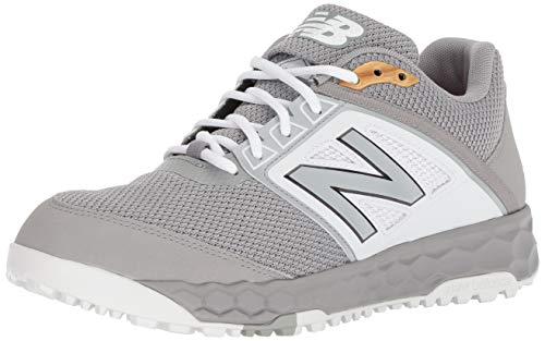 New Balance Men's 3000v4 Turf Baseball Shoe, Grey/White, 9 D US