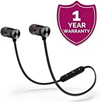 GO SHOPS Magnetic Bluetooth Headphones with Noise Isolation and Hands-Free Mic for Oppo K1,Vivo V15 Pro and All Android iOS Devies