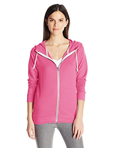 (Champion Women's French Terry Full-Zip Jacket, Melon Punch Pink Heather, S)
