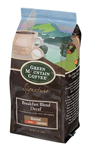 Green Mountain Coffee Breakfast Blend Decaf Ground Light Roast, 12 Ounce (Breakfast Blend Light)