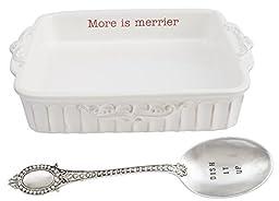 Mud Pie Circa Holiday Baking Set, White