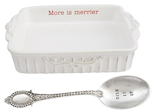 Mud Pie Circa Holiday Baking Set, White