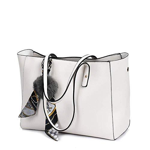 Hombro Moda Blanco Para Mujer Eeayyygch Mano Bolso Bolsas Tamaño De Hobos amp; color Blanco IwzPp6
