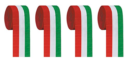 green and white streamers - 5