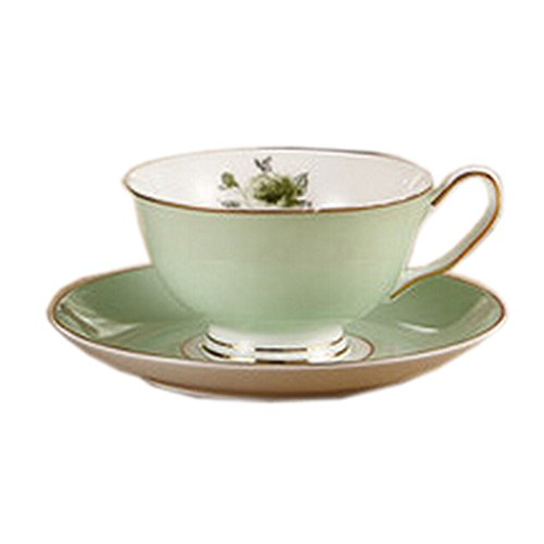 Elegant Coffee Cup Beautiful Gold Line Cafe/Home-Use Tea Cup GREEN