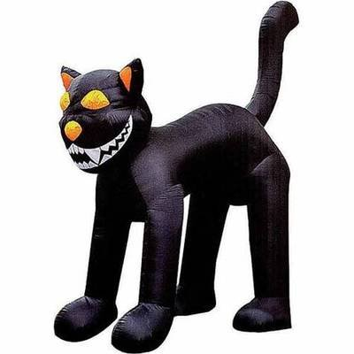 10 Ft. - Gemmy Halloween Airblown Inflatable - Black Cat ()