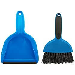 Cage Cleaner for Guinea Pigs, Cats, Hedgehogs, Hamsters, Chinchillas, Rabbits, Reptiles, and Other Small Animals - Cleaning Tool Set for Animal Waste - Mini Dustpan and Brush Set (1 Pack)