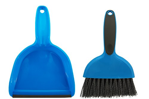 Cage Cleaner for Guinea Pigs, Cats, Hedgehogs, Hamsters, Chinchillas, Rabbits, Reptiles, and Other Small Animals - Cleaning Tool Set for Animal Waste - Mini Dustpan and Brush Set (1 Pack) ()