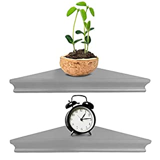 Greenco Corner Floating Shelves Gray Finish, 2-Pack (B07D7HBM7Z) | Amazon Products