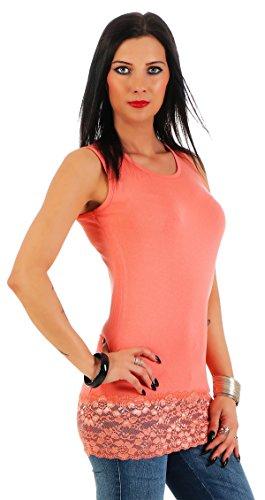 BALI Lingerie - Camiseta sin mangas - Básico - para mujer salmón