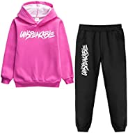 amropi Boy's Tracksuit Pullover Hoodie Jogging Pants Set 2 Pieces Sweatsuit for 2-17 Y