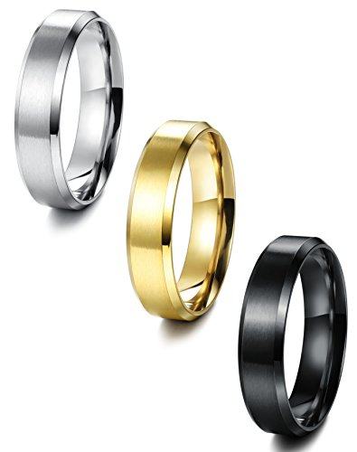 Jstyle Stainless Steel Wedding Simple