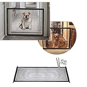 Amazon.com : Retractable Gate Pet Magic Gate Dog Latch ...