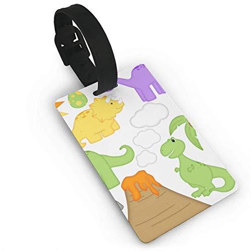 Pejer Luggage Tags Cruise-Cartoon Dinosaur Set Luggage Tags Travel Tags Bag Case Tags Unisex