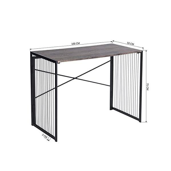 MEUBLE COSY Bureau pliable / petit bureau / Table de Bureau Table PC pour Enfants Adultes Gaming , Marron /100x50x75cm