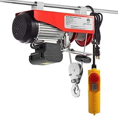 880lbs Mini Electric Wire Hoist Remote Control Overhead Lift Garage Auto Shop