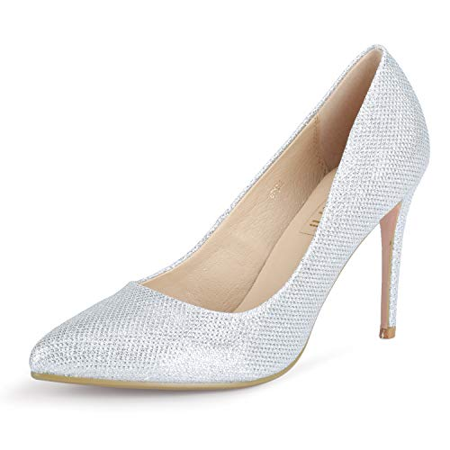 IDIFU Women's IN4 Classic Pointed Toe High Heels Pumps Wedding Dress Office Shoes