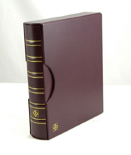Lighthouse Red/Burgundy Classic Grande 3-Ring Binder with Slipcase Storage Case for Coins, Stamps, Currency, Bank Notes, Documents, and Other Collectibles – Pages Sold Separately