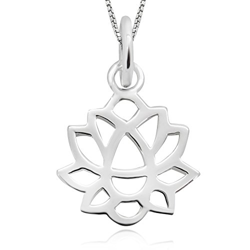Earths Best Gift Pack (925 Sterling Silver Lotus Flower Bloom Out Of The Darkness Pendant Necklace 18