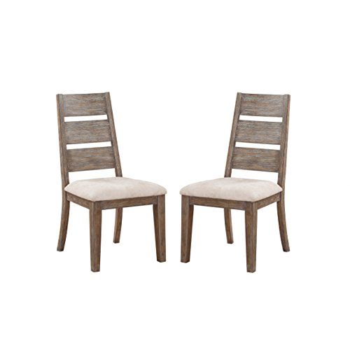 Emerald Home Viewpoint Driftwood Gray Dining Chair with Upholstered Seat, Set of Two Review
