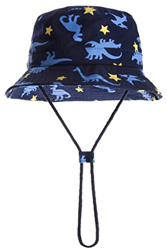 Old Blue Hat - ERISO Toddler Dinosaur Hat Sun Protection Animal Bucket with Chin Strap (6-12 Months, Little Star) ...