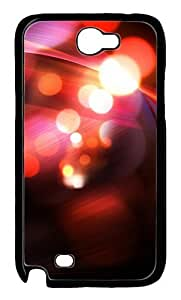 Abstract Red Bokeh Polycarbonate Hard Case Cover for Samsung Galaxy Note 2/ Note II/ N7100 Black