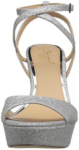 Badgley Con Oro Zeppa Sandali Glitter D'argento Mischka Donne Delle Ambrosia 46wx4r