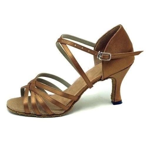 black Bronze satin dance shoes red bronze five Latin tape Lady Ballroom Colorfulworld PxBq78nw